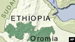 Ramani ya eneo la Oromia Ethiopia