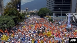 Venesuela poytaxti Karakasda namoyishlar