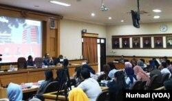 Diskusi mengenai masa depan KPK di FH UGM, Selasa, 10 September 2019. (Foto:VOA/ Nurhadi)