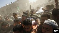 Ðám tang một phần tử chủ chiến Palestine tại Khan Younis ở giải Gaza, 26/12/2010