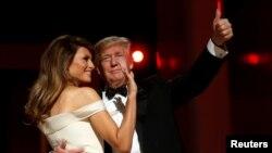 美國總統和梅拉妮亞參加了慶祝他就職的自由舞會(2017年1月20日)