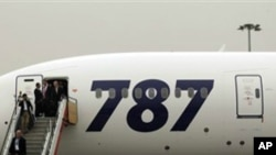 جدید مسافر بردار طیارے بوئنگ 787 کی پہلی پرواز