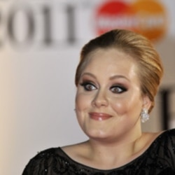 Singer Adele arrives at the Brit Awards in London last month
