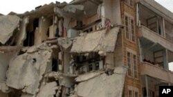 이들립시 폭탄 테러 현장.