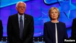 Demokratski predsednički pretendenti, Hilari Klinton i Berni Sanders, Las Vegas, Nevada oktobra 2015.