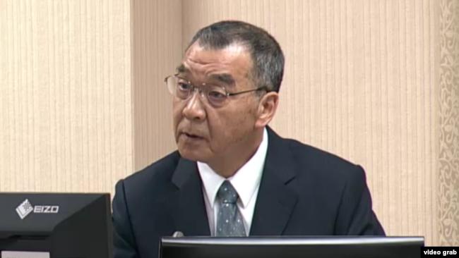 台湾国家安全局长邱国正2019年11月11日在立法院接受质询(立法院视频截图)