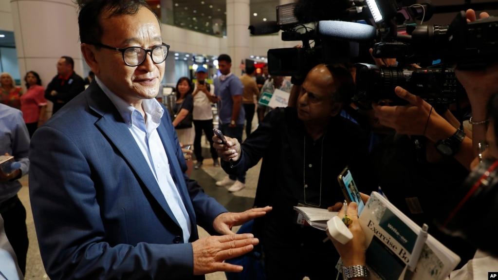 Ông Sam Rainsy tại Kuala Lumpur hôm 9/11.