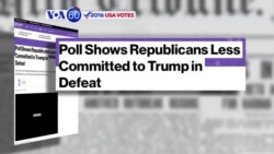 VOA60 Elections - Bloomberg: 24 percent of Republican voters want Donald Trump to remain the national face of the party