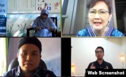 """""""Ngobrol Asik: Keragaman dalam Keluarga"""" membahas kehadiran waria dalam sebuah keluarga, Rabu, 29 Juli 2020. (Foto: screenshot)"""