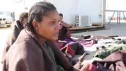 Rescued Nigerian Woman Stranded at Tripoli Harbor, Tripoli, Libya