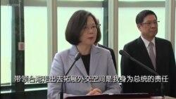 蔡英文:走出去让全世界看到台湾