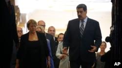 """Nicolás Maduro describió el informe de Michelle Bachelet como un reporte """"plagado de falsas afirmaciones, tergiversaciones y manipulaciones en el uso de datos y fuentes""""."""