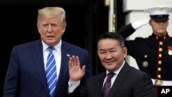 Переговоры президентов США и Монголии в Белом доме