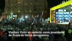 Putin celebra la victoria con mensaje de unidad