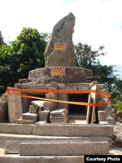 Makam Leluhur Adat Sunda Sunda (AKUR) di Desa Cisantana, Kabupaten Kuningan, Jawa Barat disegel. (Foto: Istimewa/Dewi Kanti)