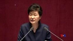 2016-02-16 美國之音視頻新聞: 朴槿惠對北韓核威脅採取強硬立場