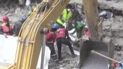 Kenya : une survivante sortie des décombres d'un immeuble après six jours