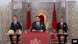 Le roi Mohammed VI à son palais royal, le 30 juillet 2019.
