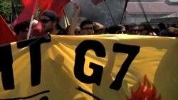 تظاهرات اعتراضی در محل برگزاری اجلاس سران هفت کشور صنعتی جهان