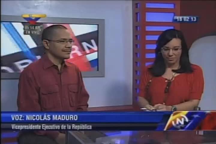Chávez de regreso en Caracas