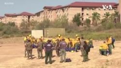 美國軍隊與消防員並肩對抗野火