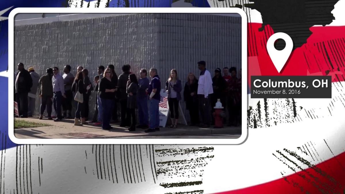 columbus ohio voters head to the polls. Black Bedroom Furniture Sets. Home Design Ideas