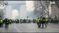 Paris'te Sarı Yelekliler Gösterisinde 200'den Fazla Gözaltı
