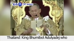 VOA60 World - Thailand: King Bhumibol Adulyadej who reigned more than 70 years dies at 88