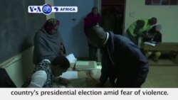 VOA60 Africa - Kenyans Vote in Hotly Contested Elections