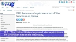 VOA60 Africa - The United States imposed visa restrictions on Ghanaian nationals
