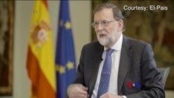 2017-10-08 美國之音視頻新聞: 西班牙首相不排除廢除加泰自治地位 (粵語)