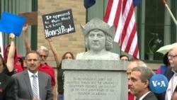 """英语视频:美国越来越多地区将""""哥伦布日""""改名为""""原住民日"""""""