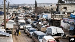Idlibni tark etayotgan mahalliy aholi. 20-fevral, 2020.