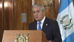 Washington apoya proceso contra Pérez Molina