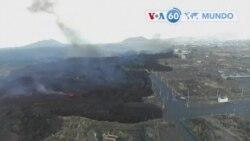 Manchetes mundo 12 Outubro: lava do vulcão na ilha espanhola de La Palma atingiu uma fábrica de cimento e uma área industrial