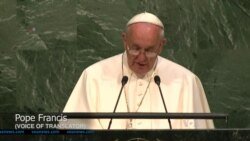 Pope Calls for Action on Climate Change, Fighting Poverty