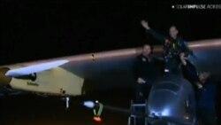 太阳能飞机降落华盛顿 即将完成全美之旅