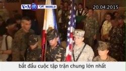 Khởi sự cuộc tập trận lớn Mỹ-Philippines (VOA60)