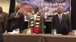 Zimbabweans in New York Sing National Anthem at Meeting with President