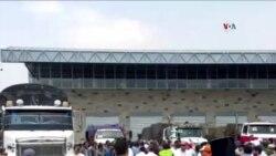 Camiones de Ayuda Humanitaria Salen de Cúcuta
