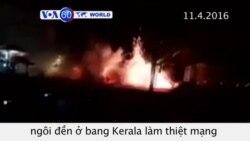 Ấn Độ thẩm vấn năm người về vụ cháy đền ở Kerala (VOA60)