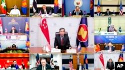 Фрагмент видеоконференции США – АСЕАН по борьбе с коронавирусом
