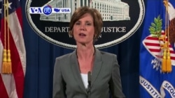 VOA60 America - President Trump Fires Acting AG Who Refused to Defend Immigration Ban
