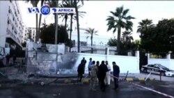 VOA60 Afirka: Bom ya Fashe Awata Mota Kusa da Ofishin Jakadancin Masar, Libiya, Nuwamba 13, 2014
