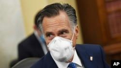 Le sénateur Mitt Romney, à Capitol Hill à Washington, le 10 juin 2020.