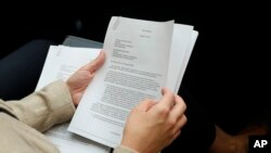 """Kopija pisma """"uzbunjivača"""" koje je vršilac dužnosti direktor nacionalnih obaveštajnih službi predao Senatu i Odboru za obaveštajna pitanja Predstavničkog doma."""