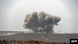FILE - Mapigano yanaendelea Yemenl kati ya Ushirika wa majeshi yanayoongozwa na Saudi Arabia na waasi wa Kihouthi Jimbo la Marib, Machi 5, 2021.