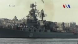 Tàu chiến Nga tập trận ở Biển Đông trước chuyến thăm TQ của ông Putin