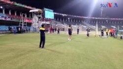 پشاور زلمی اور کوئٹہ گلیڈی ایٹرز کے کھلاڑیوں کی نیٹ پریکٹس