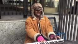 American Kevin Performing Outside Washington DC Metro Station